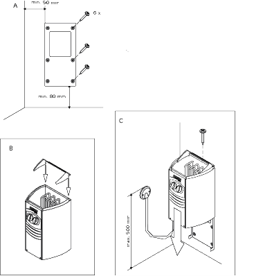 schema poêle Harvia Vega Compact