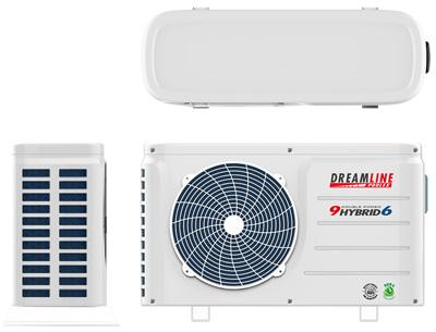Chauffage piscine dreamline hybrid 6 9kw mono avec for Chauffage piscine red line