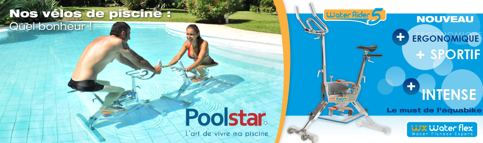 Aquafitness et vélo de piscine Poolstar / Waterflex