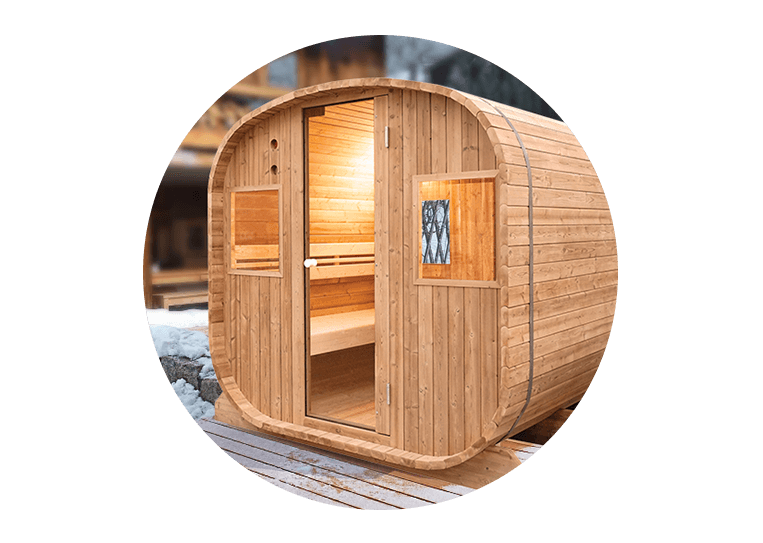 barrel sauna d 39 ext rieur vapeur poolstar. Black Bedroom Furniture Sets. Home Design Ideas